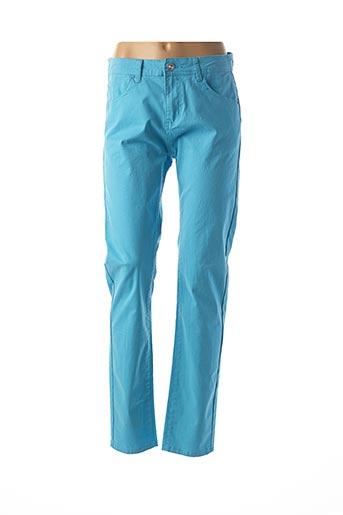Pantalon casual bleu AU PETIT LOUVRE pour femme