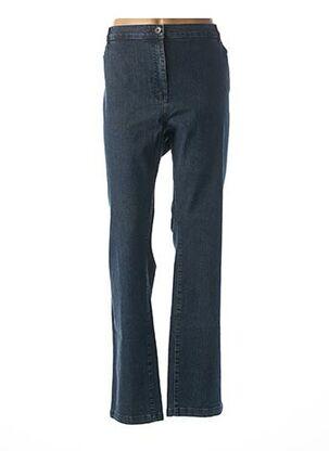 Jeans coupe droite bleu ANNE KELLY pour femme