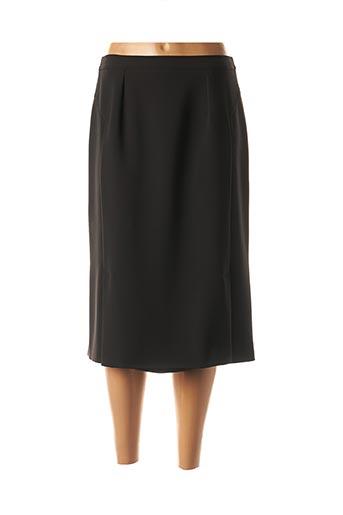 Jupe mi-longue noir CHRISTIAN MICHEL pour femme