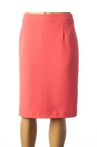 Jupe mi-longue orange LEBEK pour femme