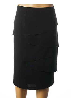 Jupe mi-longue noir ANNE KELLY pour femme