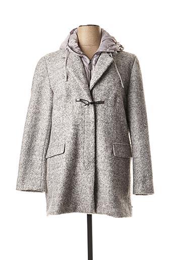 Manteau court gris REVER MILE pour femme