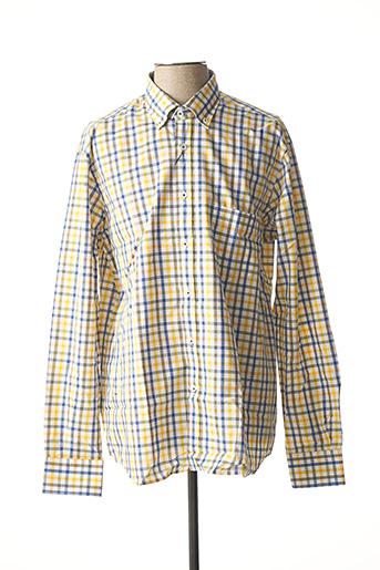 Chemise manches longues jaune BASSETTE pour homme