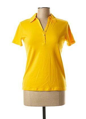 Polo manches courtes jaune CECIL pour femme