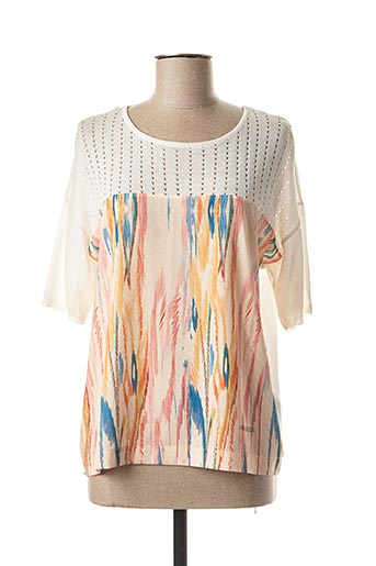 Pull col rond blanc ANA SOUSA pour femme