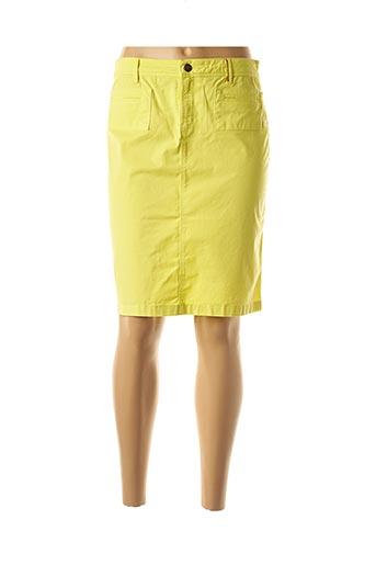 Jupe mi-longue jaune COUTURIST pour femme