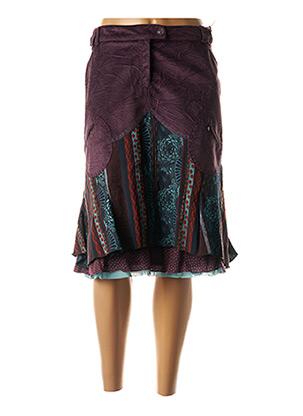 Jupe mi-longue violet O.K.S pour femme