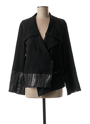 Veste casual noir LAUREN VIDAL pour femme