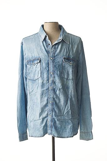 Chemise manches longues bleu KILIWATCH pour homme