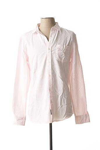 Chemise manches longues rose TIFFOSI pour homme