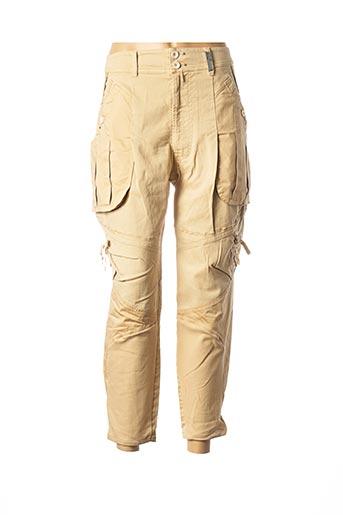 Pantalon 7/8 beige HIGH pour femme