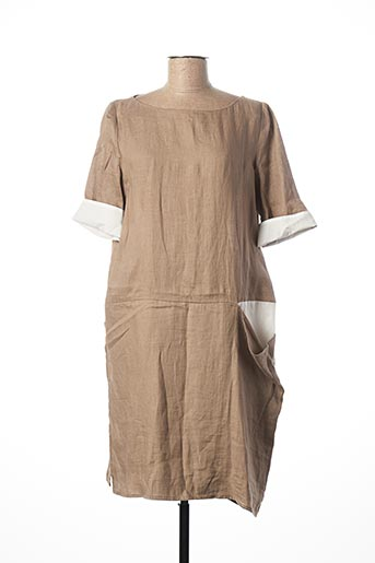 Robe mi-longue beige PIER ANTONIO GASPARI pour femme