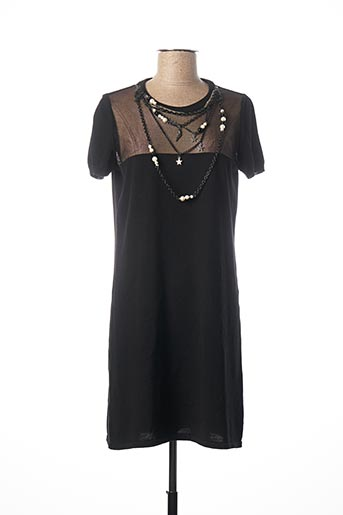 Robe pull noir MOSCHINO pour femme