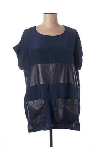 Tunique manches courtes bleu MAX & MOI pour femme