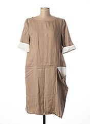 Robe mi-longue beige PIER ANTONIO GASPARI pour femme seconde vue