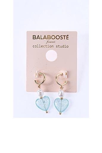 Boucles d'oreilles bleu BALABOOSTÉ pour femme
