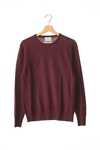 Pull col rond rouge MAISON STANDARS pour homme