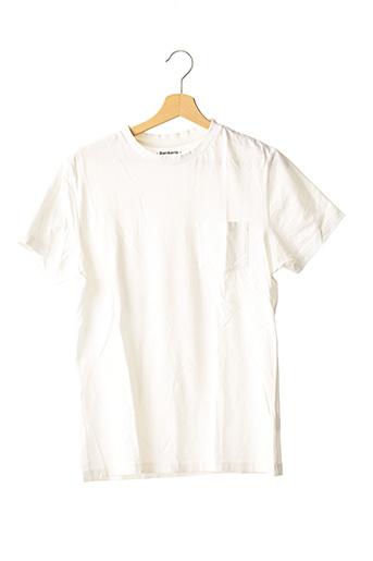 T-shirt manches courtes blanc BALIBARIS pour homme