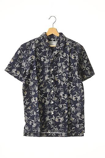 Chemise manches courtes bleu CURRENT ELLIOTT pour homme