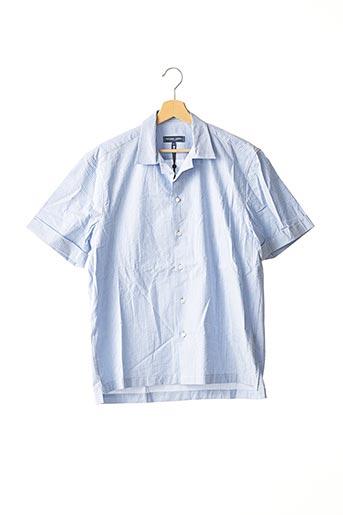 Chemise manches courtes bleu FRESCOBOL CARIOCA pour homme