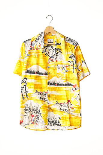 Chemise manches courtes jaune PERCIVAL pour homme