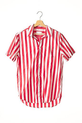 Chemise manches courtes rouge SAMSOE & SAMSOE pour homme