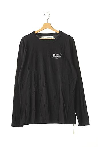 T-shirt manches longues noir OFF WHITE pour homme