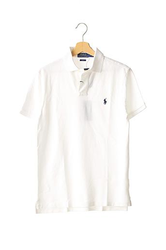 Polo manches courtes blanc RALPH LAUREN pour homme