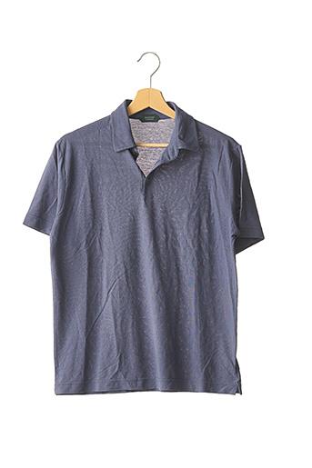 Polo manches courtes bleu ZANONE pour homme