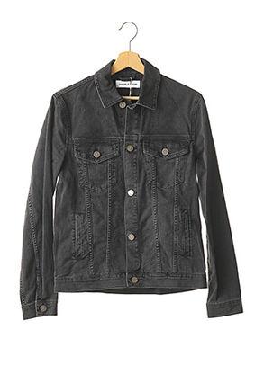 Veste en jean noir SAMSOE & SAMSOE pour homme