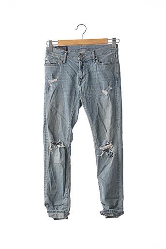 Jeans coupe slim bleu ABERCROMBIE & FITCH pour homme