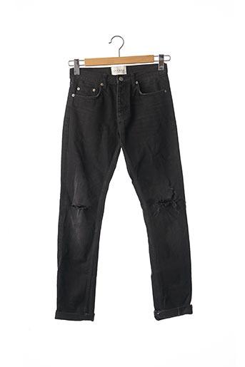 Jeans coupe slim noir SANDRO pour homme
