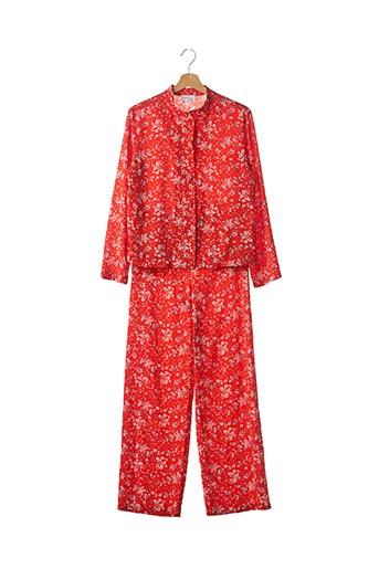 Veste/pantalon rouge AGNES B pour femme
