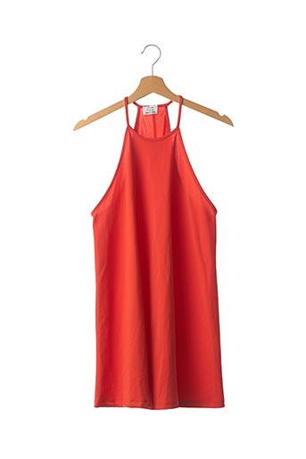 Robe mi-longue rouge ZARA pour femme