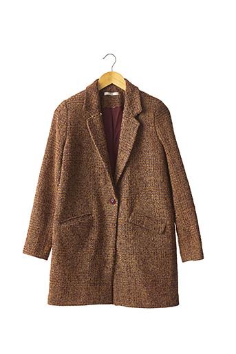 Manteau long marron HOD pour femme