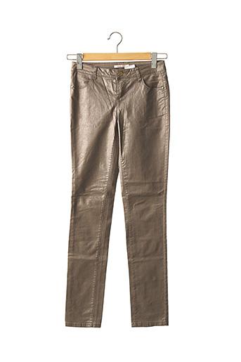 Pantalon casual marron CAMAIEU pour femme