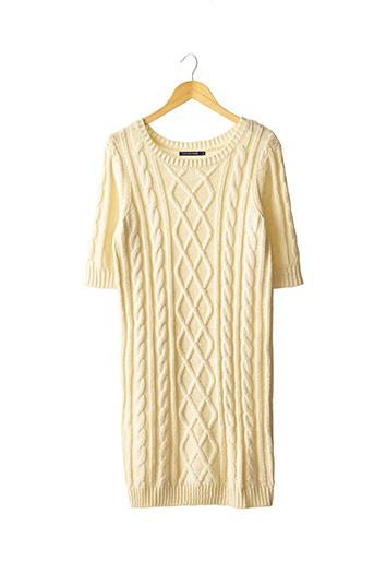 Robe pull beige MONOPRIX pour femme