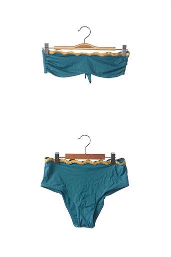 Maillot de bain 2 pièces bleu CARIOCACOLLECTION pour femme