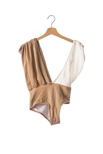 Haut de maillot de bain beige LUZ pour femme