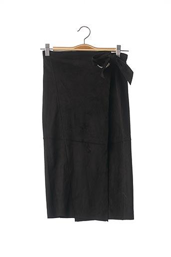 Jupe mi-longue noir MANGO pour femme