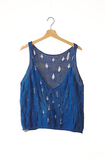 Pull col V bleu COP COPINE pour femme