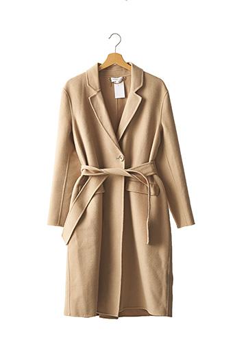 Manteau long beige PATRIZIA PEPE FIRENZE pour femme