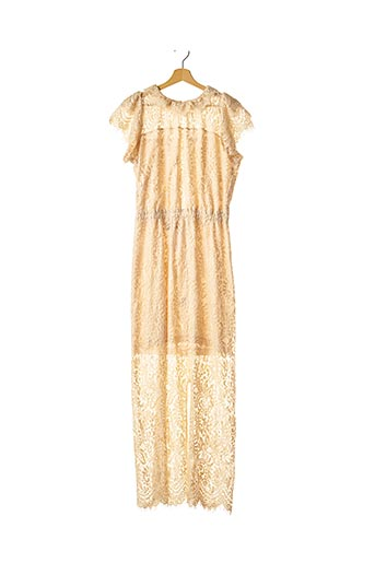 Robe longue beige CHARLOTTE ESKILDSEN pour femme