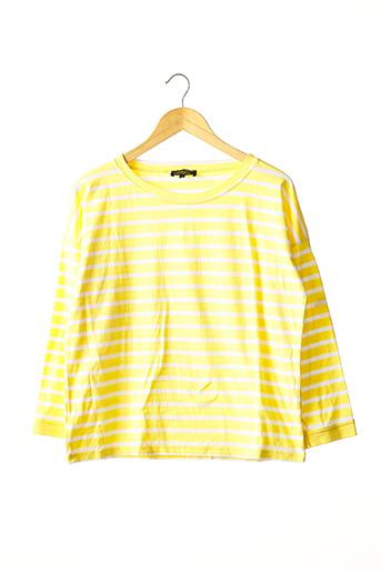 T-shirt manches longues jaune LE MONT ST MICHEL pour femme