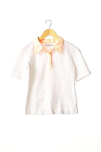 Polo manches courtes blanc COURREGES pour femme