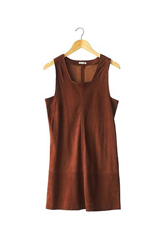 Robe mi-longue marron MASSCOB pour femme