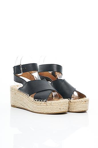Sandales/Nu pieds noir AMPARO INFANTES pour femme