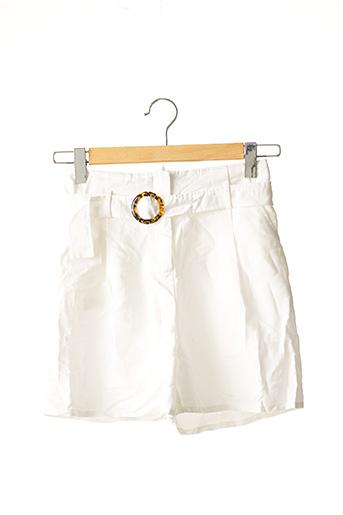 Short blanc BOOHOO pour femme