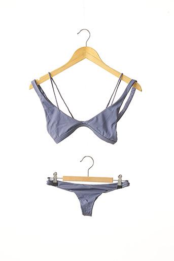 Maillot de bain 2 pièces bleu BELLES DES PINS pour femme