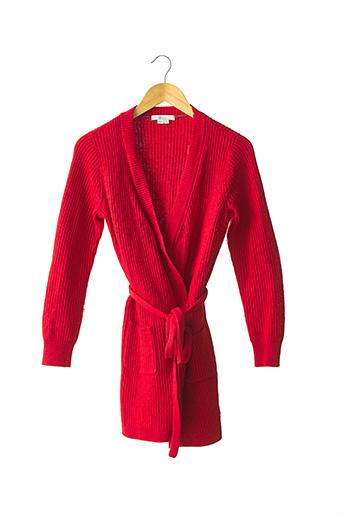 Gilet manches longues rouge BODEN pour femme